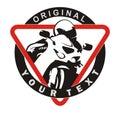 Motorsport saftey emblem design Stock Image