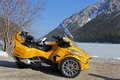Motorsport in winter with the can am spyder Stock Photo