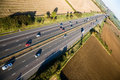 Motorway from the air Royalty Free Stock Photo