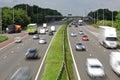 Motorway traffic Royalty Free Stock Photo