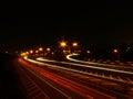 Motorway traffic light trails Royalty Free Stock Photo