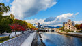 Motoyasu river in hiroshima japan november japan on november stands on the bank of the is the remain of Stock Images