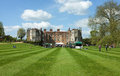 Mottisfont abbey house hampshire england the wonderful tourist attraction of in on a summer s day with a public fete and Stock Images