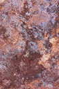 Mottled rock face cracked various materials with evidence of lichen and stains Royalty Free Stock Photography
