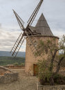 Moulin daudet s mill de daudet on a small hill located south of fontvieille at the edge of the alpilles the tower windmill Stock Images