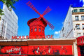 The moulin rouge during the day o paris france september on september in paris france is most famous parisian Royalty Free Stock Photo