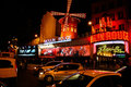 The Moulin Rouge famous cabaret and theater Paris , France Royalty Free Stock Photo