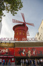 The moulin rouge in paris france Royalty Free Stock Photography