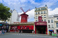 Moulin rouge paris france the famous nightclub in in the afternoon Stock Photo
