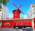 The moulin rouge paris france september during day on september in paris france is most famous parisian Stock Photography