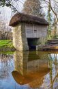 Moulin vertical en stationnement folklorique de Bunratty, Irlande Images stock