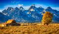 Moulton Barn Grand Teton, Wyoming Royalty Free Stock Photo
