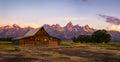 Moulton Barn on Mormon Row, Grand Teton National Park, Wyoming Royalty Free Stock Photo