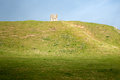 Mound castle all that remains at fotheringham of the castle that was the administrative centre for the house of york plantagenet Royalty Free Stock Image