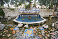 Mound jericho israel oct elisha spring fountain at the entrance of tell es sultan the oldest city in the world the is Stock Image