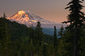 Mount Adams at sunrise from Goat Rocks Wilderness Stock Photography