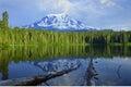 Mount Adams and Takhlakh Lake Royalty Free Stock Photo