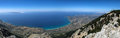 Mount ainos of island kefalonia greece panoramic Royalty Free Stock Photography