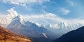 Mount Ama Dablam on the way to Mount Everest Base Camp Royalty Free Stock Photo