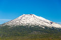Mount bachelor closeup a view of beautiful mt near bend oregon Royalty Free Stock Photo