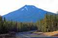 Mount bachelor from forest road dominates the skyline in this september view service between sunriver oregon and the world class Stock Image