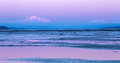 Mount baker twilight in the distance from bounday bay british columbia at Stock Photo
