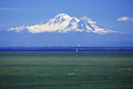 Mount baker washington seen from the gulf islands in canada Royalty Free Stock Photo