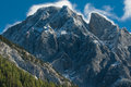 Mount blane close view of with new dusting of snow in kananaskis country alberta canada Royalty Free Stock Images