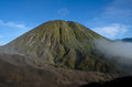 Mount bromo and mount batok java indonesia Royalty Free Stock Photos