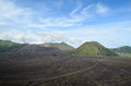Mount bromo and mount batok java indonesia Stock Images