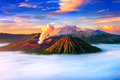 Mount Bromo volcano Gunung Bromo Royalty Free Stock Photo