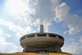 Mount buzludzha communist monument bulgaria august exterior shot with who once served as the house of the bulgarian Royalty Free Stock Image