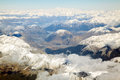 Mount cook aerial view of with southern mountain range new zealand Royalty Free Stock Photography
