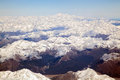 Mount cook aerial view of with southern mountain range new zealand Stock Photos