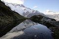 Mount Cook evening landscape, New Zealand. Royalty Free Stock Photo