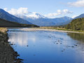 Mount Cook, Fox River, South Island, New Zealand Royalty Free Stock Photo