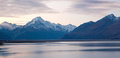 Mount cook Sunset New Zealand Royalty Free Stock Photography