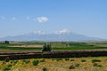 Mount Erciyes (3920 mt altitude) in Cappadocia. Royalty Free Stock Photo