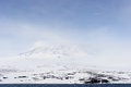 Mount erebus smoking on antarctica Royalty Free Stock Image