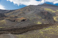 Mount Etna with craters and solidified lava flows at Sicily, Italy Royalty Free Stock Photo