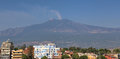 Mount Etna and Giardini Naxos Royalty Free Stock Photo