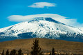 Mount Etna volcano with snow. Sicily, Italy Royalty Free Stock Photo