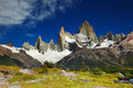Mount fitz roy argentina los glaciares national park patagonia Royalty Free Stock Images