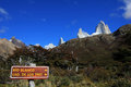 Mount Fitz Roy, Los Glaciares National Park, Argentina Royalty Free Stock Photo