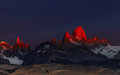 Mount fitz roy at sunrise patagonia argentina los glaciares national park Stock Images