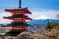 The mount Fuji, Japan Royalty Free Stock Photo