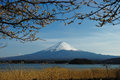 Mount fuji scenic view of with lake yamanaka in foreground honshu island japan Stock Photography