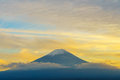 Mount Fuji sunset, Royalty Free Stock Photo