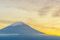 Mount Fuji sunset, Japan. Royalty Free Stock Photo