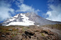 Mount Hood in the Clouds Royalty Free Stock Photo